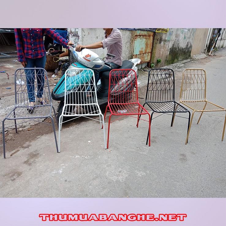 Thanh Lý Ghế Cafe Cũ Khung Sắt Nhiều Màu Giá Rẻ -1