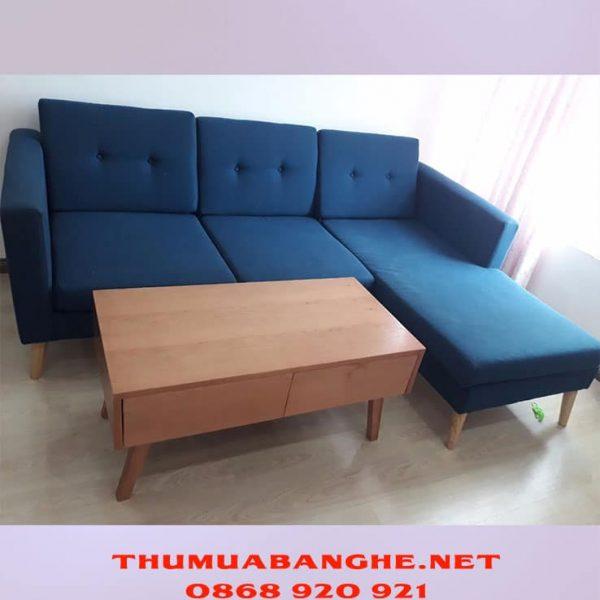 Thanh Lý Bộ Ghế Sofa Bọc Vải Cao Cấp Kèm Bàn Gỗ -1