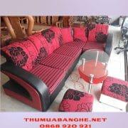 Thanh Lý Bộ Bàn Ghế Sofa Bọc Vải Giá Rẻ -1