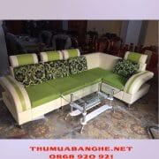 Thanh Lý Bộ Sofa Bọc Da Kèm Bàn Kính -1