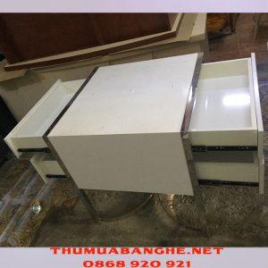 Thanh Lý Tủ Trang Điểm Màu Trắng Chân Inox -1