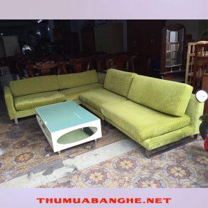 Thanh Lý Sofa Bọc Vải Nỉ Màu Xanh Mới 95% -1