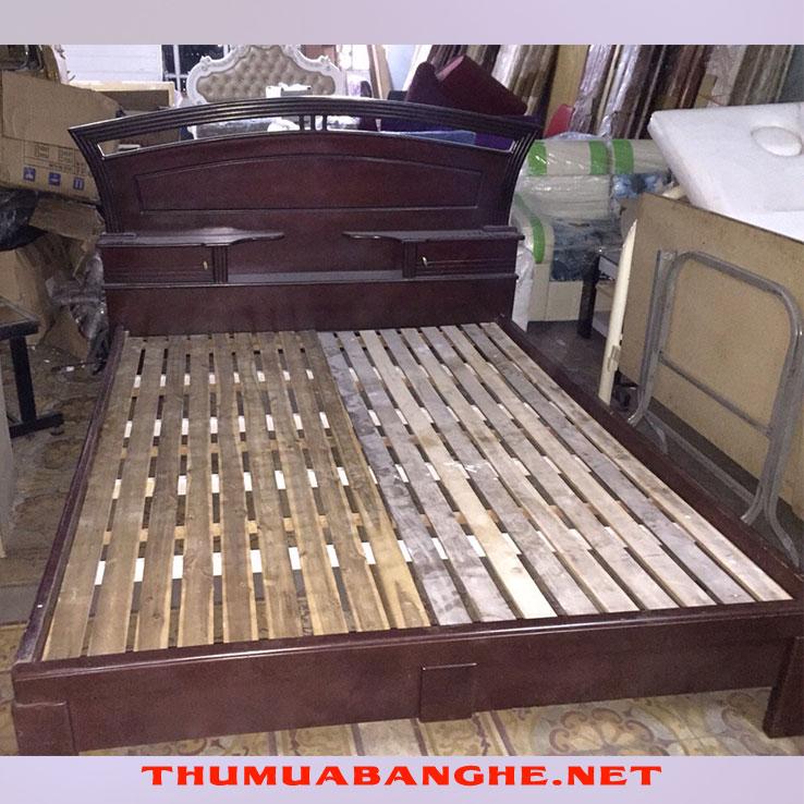 Giường Ngủ 1m6 x 2m Có Kệ Đầu Giường -1