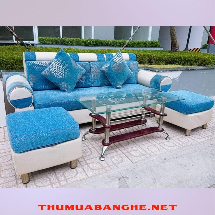 Bộ Bàn Ghế Sofa Cũ Bọc Simili Giá Rẻ -1