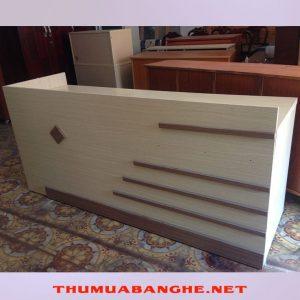Quầy Tiếp Tân Cũ 1m95 x 60cm Màu Kem -1