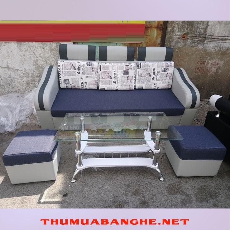 Bộ Bàn Ghế Sofa Mini Màu Xám Giá Rẻ -1