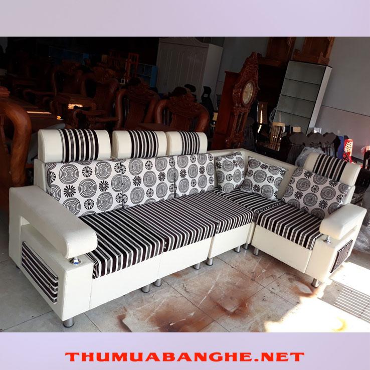 Sofa Chữ L Bọc Simili Giá Rẻ -1