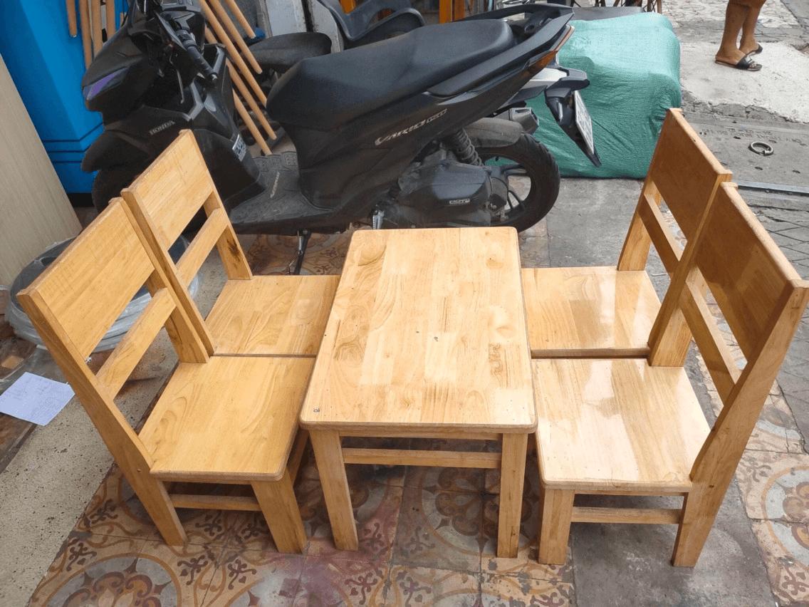 Thanh lý bộ bàn ghế cafe gỗ hải phòng 0834.567.824